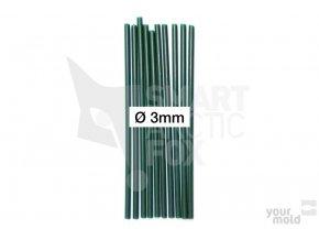 PVC trubička do krmítka - tmavězelená