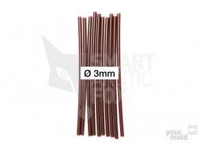 PVC trubička do krmítka - tmavěhnědá