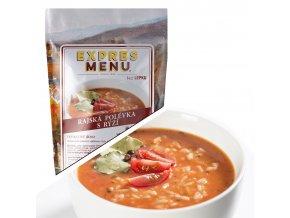 EXPRES MENU Polévka rajská s rýží (2 porce) 600