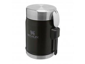 Jídelní termoska STANLEY se lžící - černá mat (400ml)