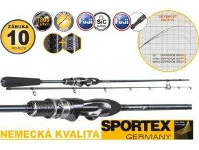Přívlačový prut Sportex Graphenon Spin 2-díl