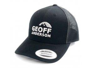 Kšiltovka Geoff Anderson SnapBack síťová s logem černá