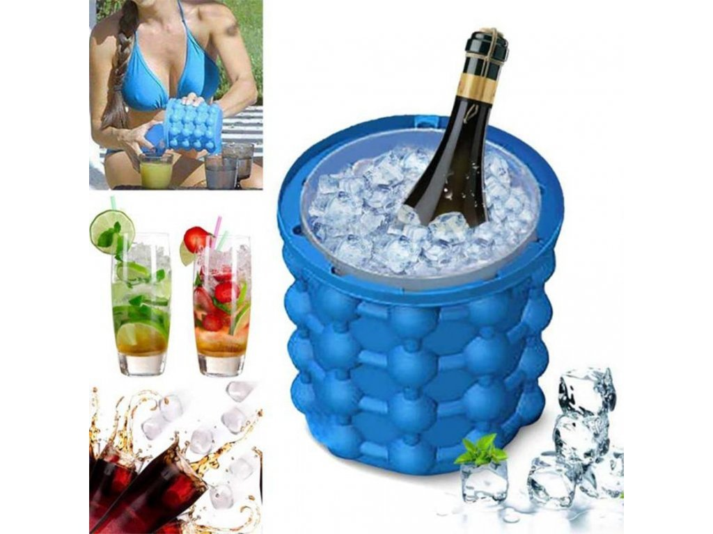 101042 1 0 1pc silicone ice bucket durable drink wine rapid cooling storage space saving seaside travel springtime outing (1)