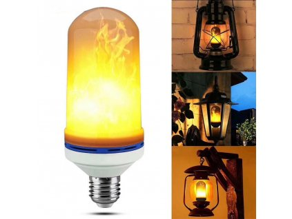 0 E26 E27 LED Flame Effect Fire Light Bulb 15W 18W SMD2835 Flickering Decorative Flame Lamp 1400K