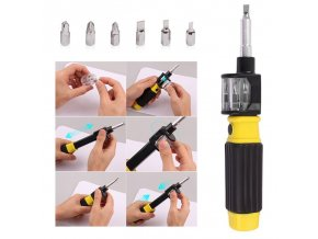 1 6in1 360 Degree Twist Flexible Screwdriver Bit Precision Screwdriver Screws DIY Repair Hand Tool