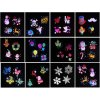 5 Outdoor Waterproof Christmas Lights ED Laser Snowflake Projector RF Wireless Remote 16 Film Cards Light Home