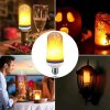 5 E26 E27 LED Flame Effect Fire Light Bulb 15W 18W SMD2835 Flickering Decorative Flame Lamp 1400K