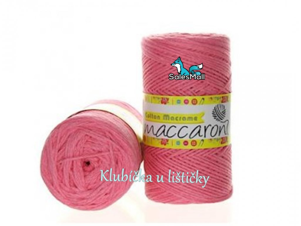 Cotton Macrame 05 - růžová