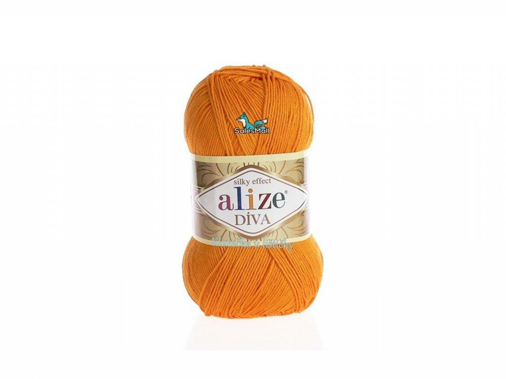 Příze Alize Diva oranžová 83