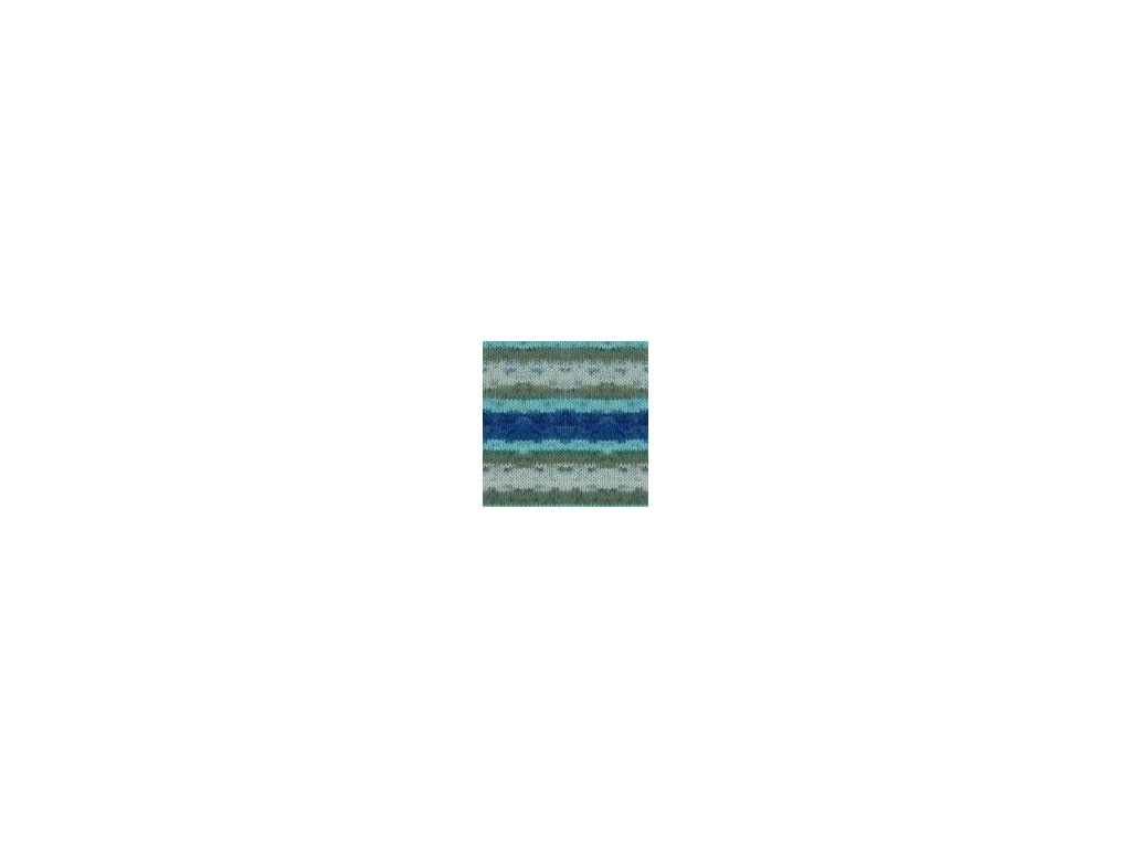 Himalaya Mercan Batik 59517 - modro šedý melír