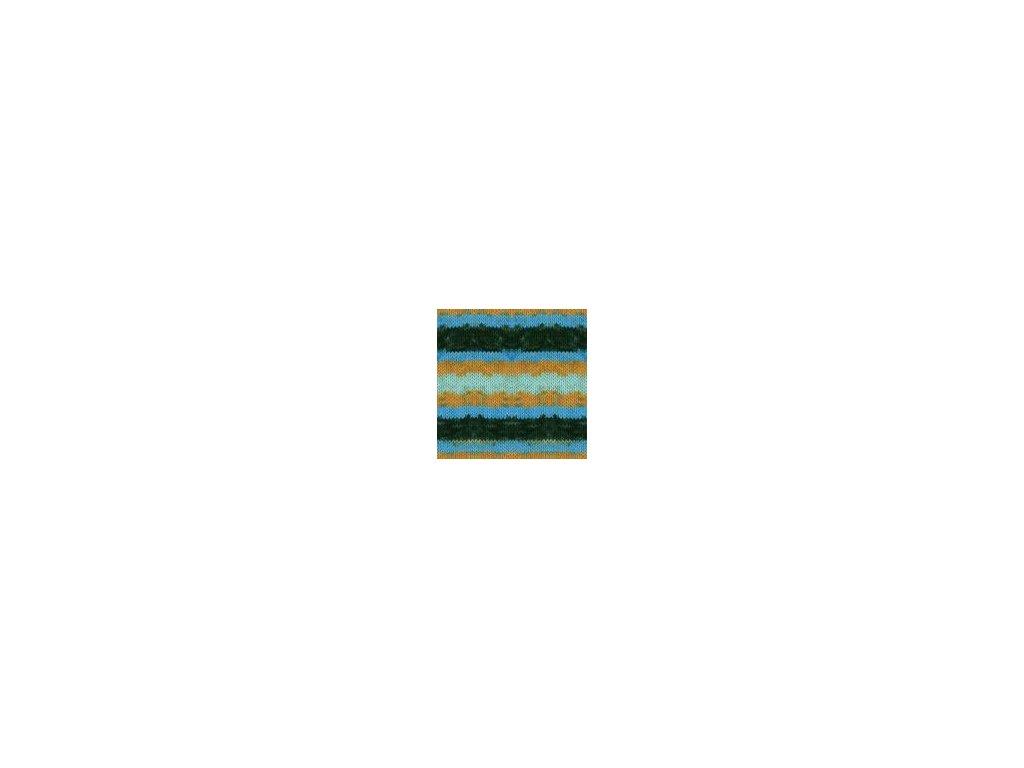 Himalaya Mercan Batik 59516 - modro hnědý melír