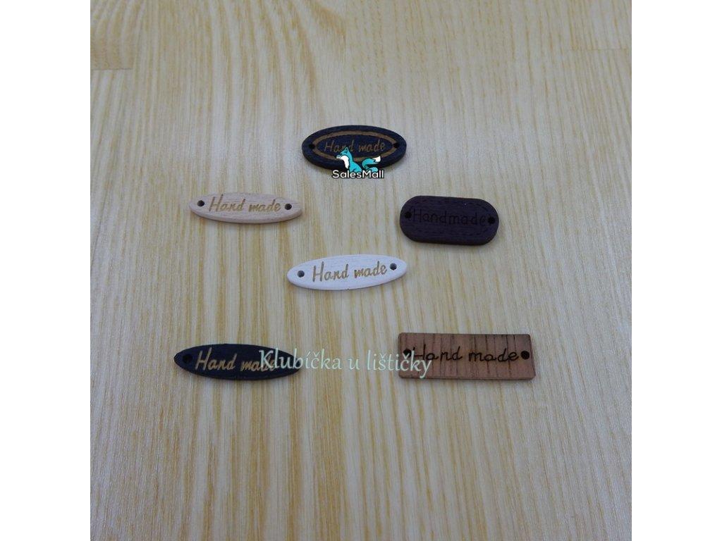 Handmade  dřevěný černý oválek