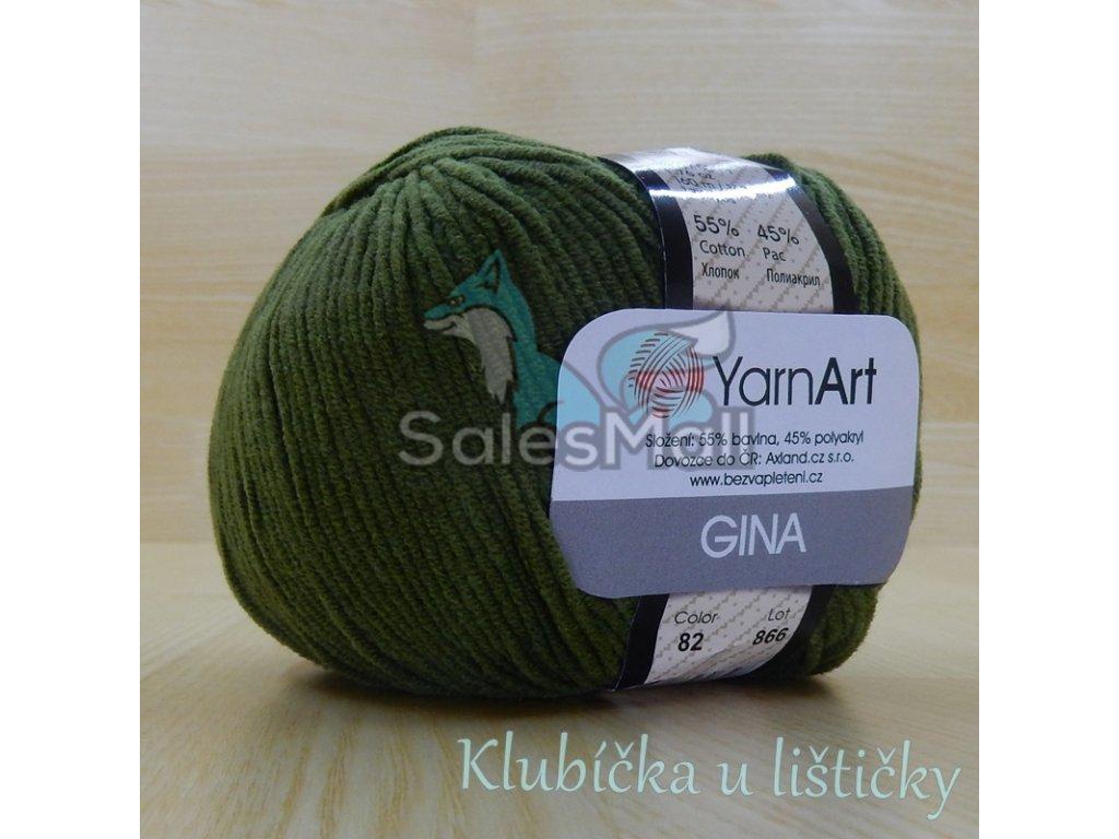 YarnArt Příze Gina 82 - khaki
