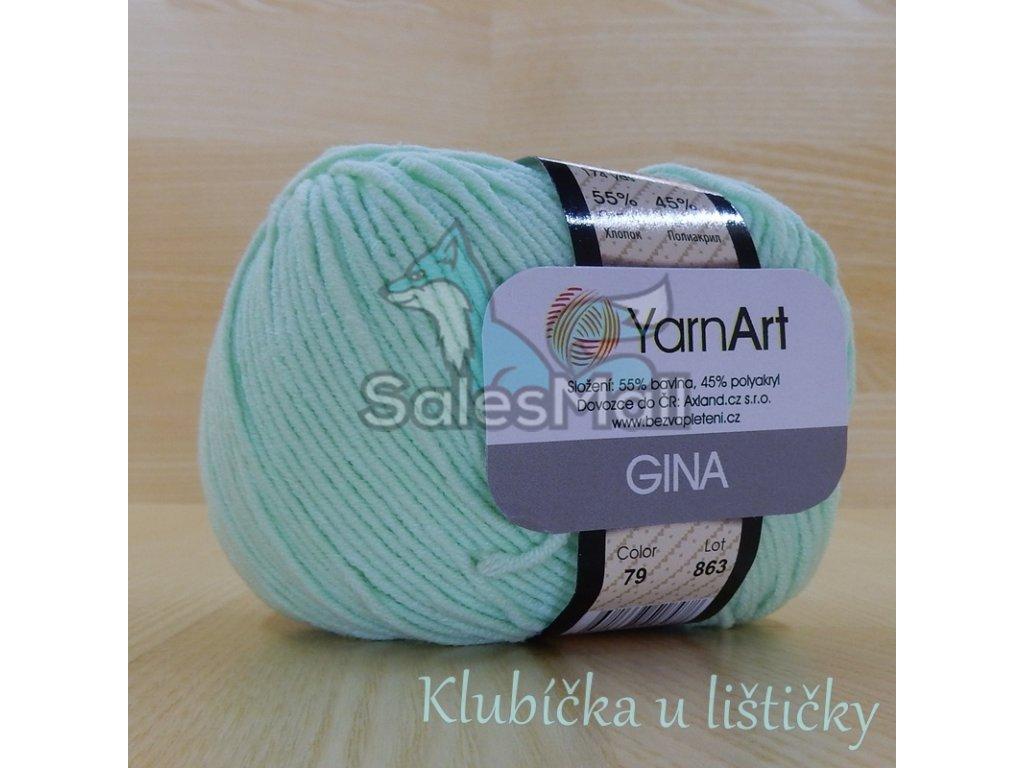 YarnArt Příze Gina 79 - mentolová