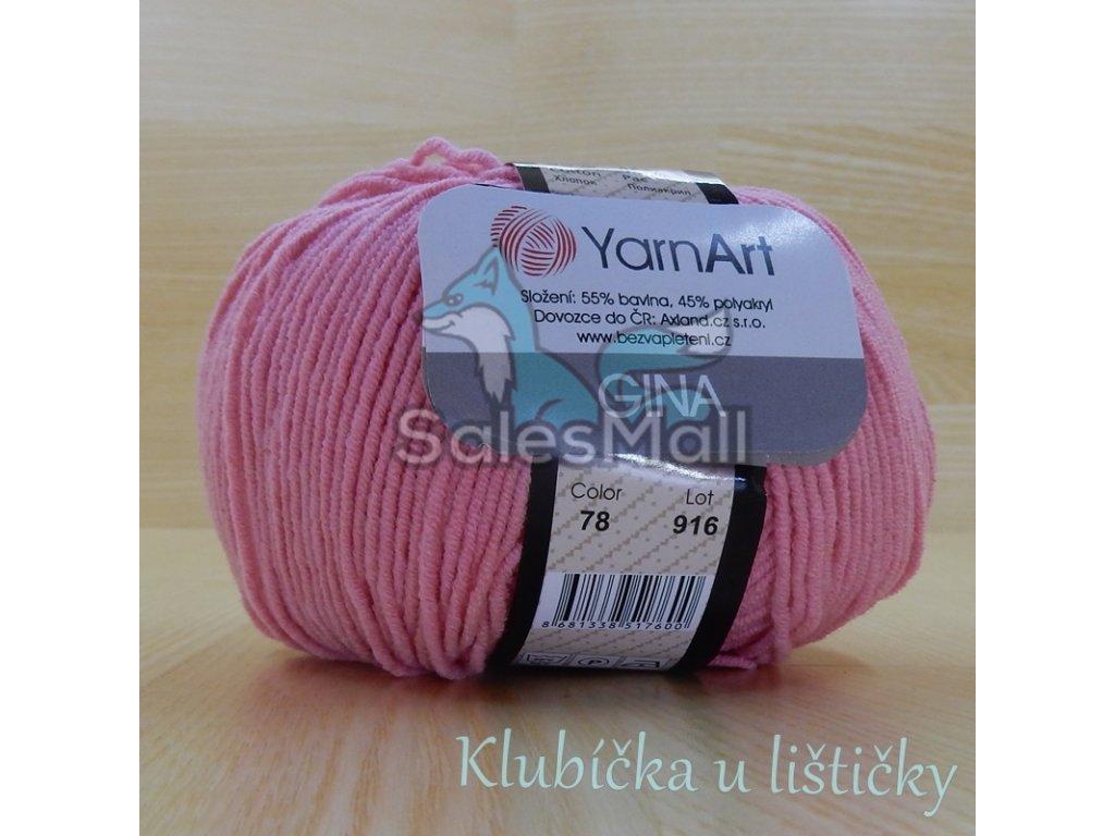 YarnArt Příze Gina 78 - růžová