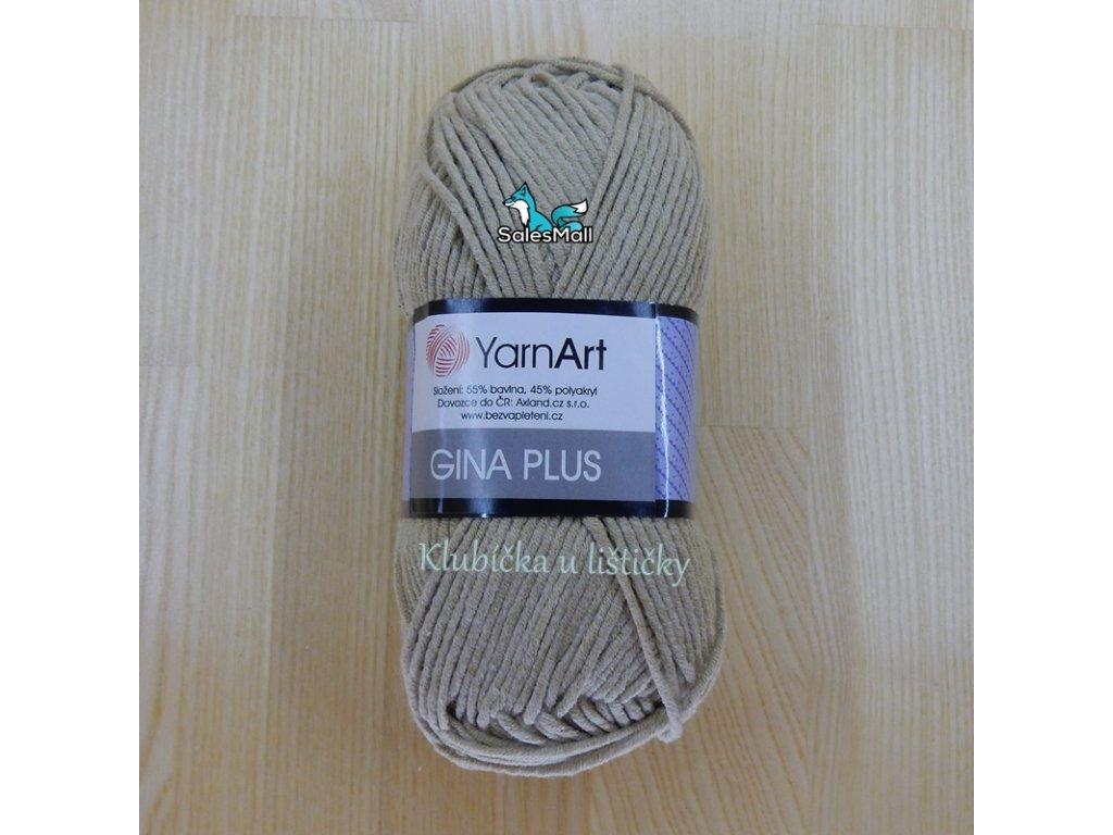 YarnArt Příze Gina Plus 48 - béžovošedá