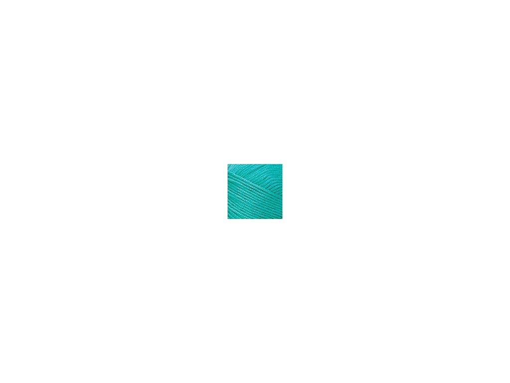 Příze Nako Saten 4240 - tyrkysově zelená