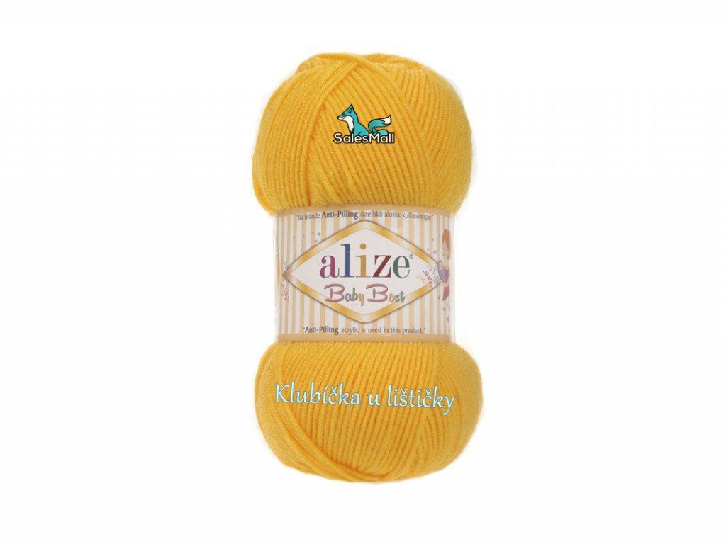 Alize Baby Best 216 - tmavě žlutá