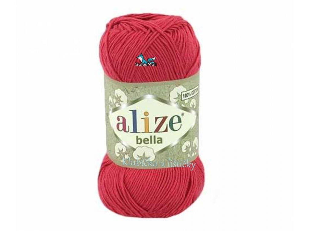 Příze Alize Bella 254 - tmavě červená