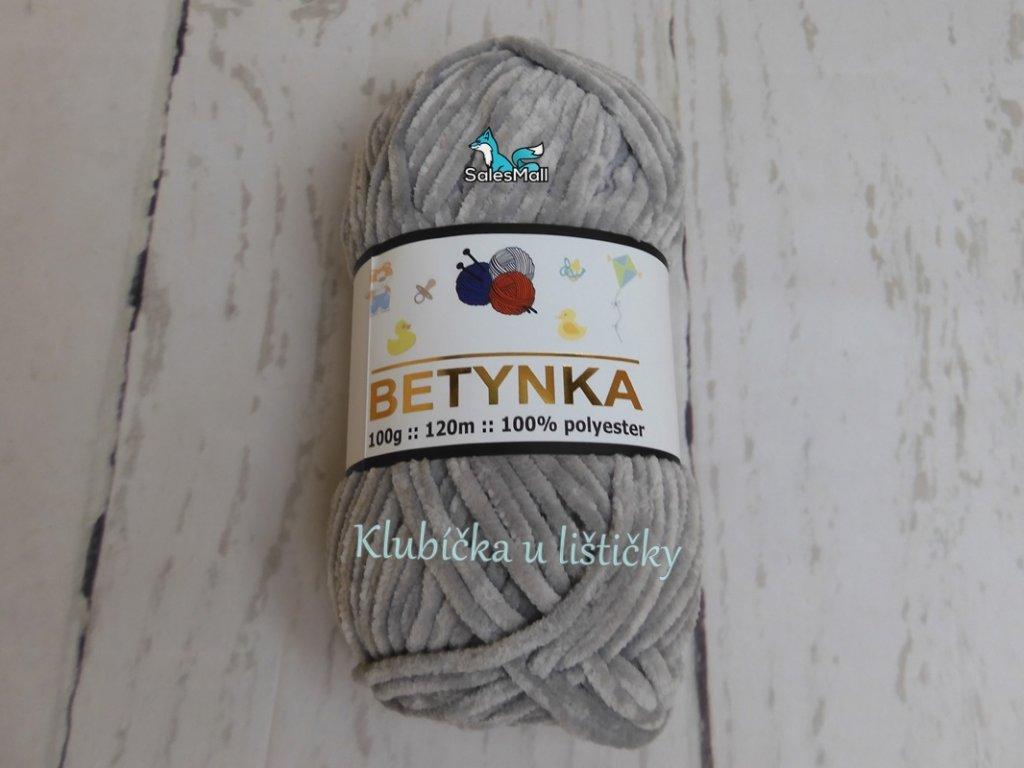 Příze Betynka modrošedá - 357