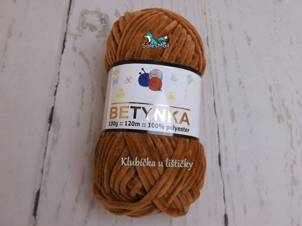 Příze Betynka medově hnědá- 337