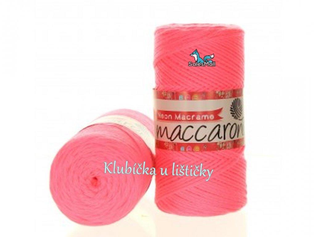 Neon Macrame růžová 002
