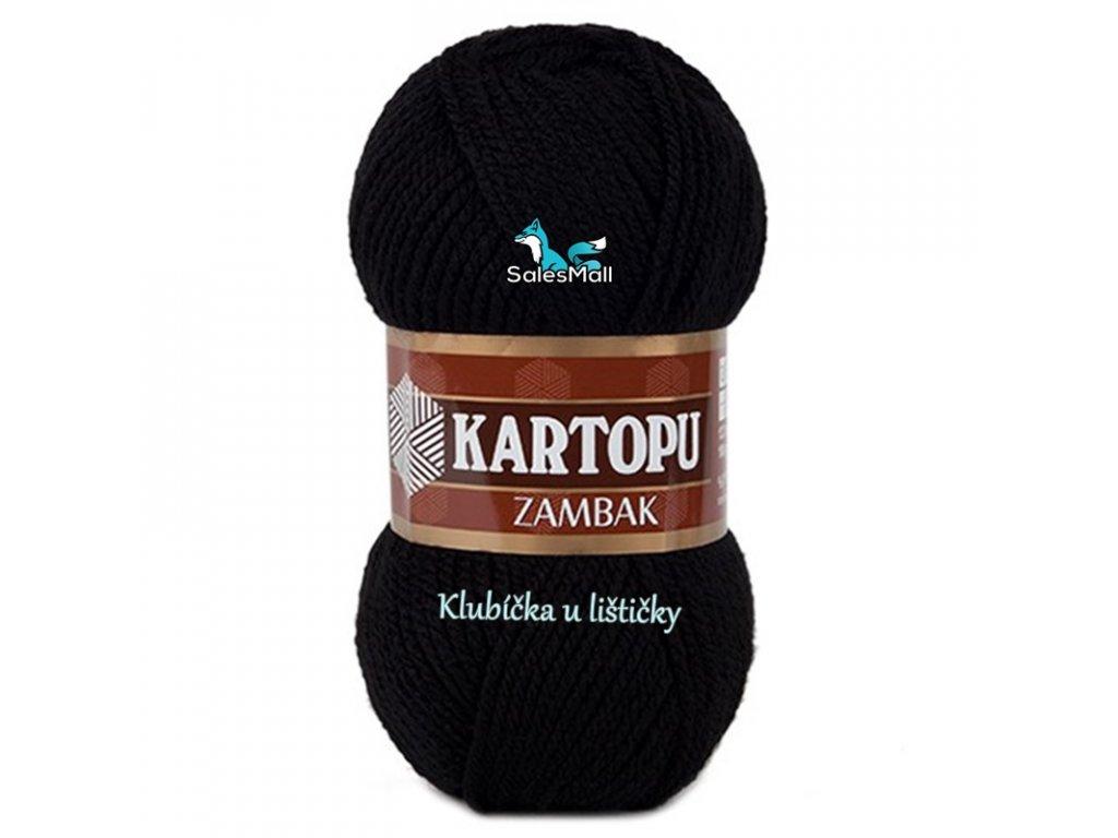 Příze Kartopu Zambak 940 - černá