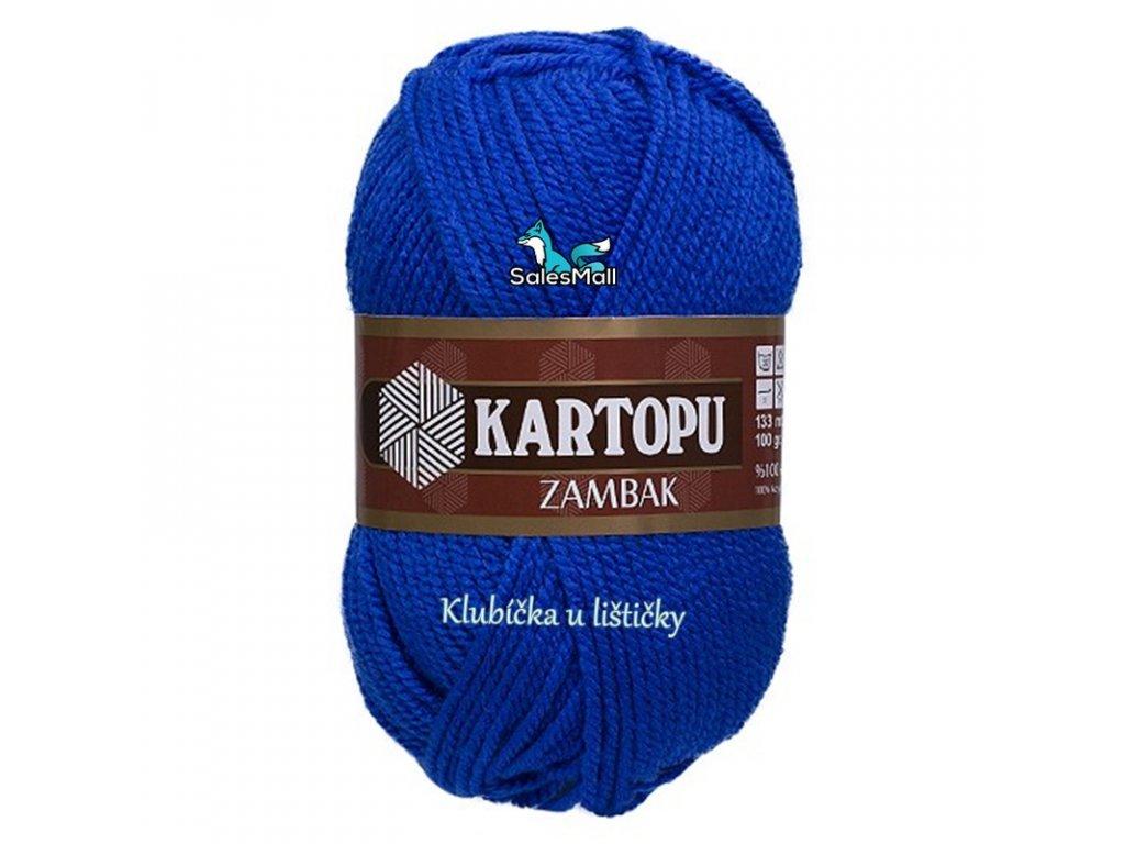 Příze Kartopu Zambak 627 - tmavě modrá