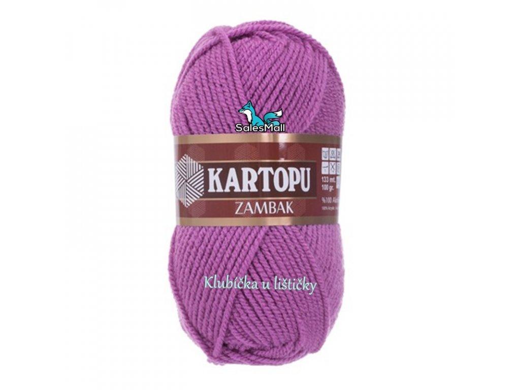 Příze Kartopu Zambak 735 - fialová