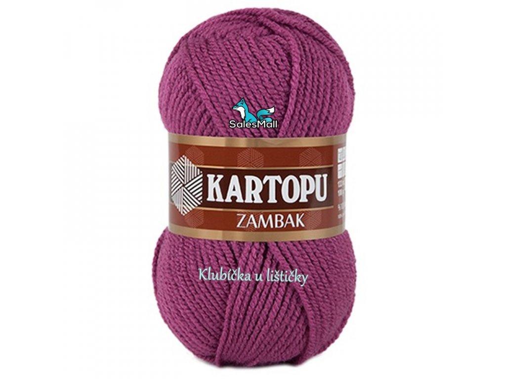 Příze Kartopu Zambak 736 - tmavě fialová