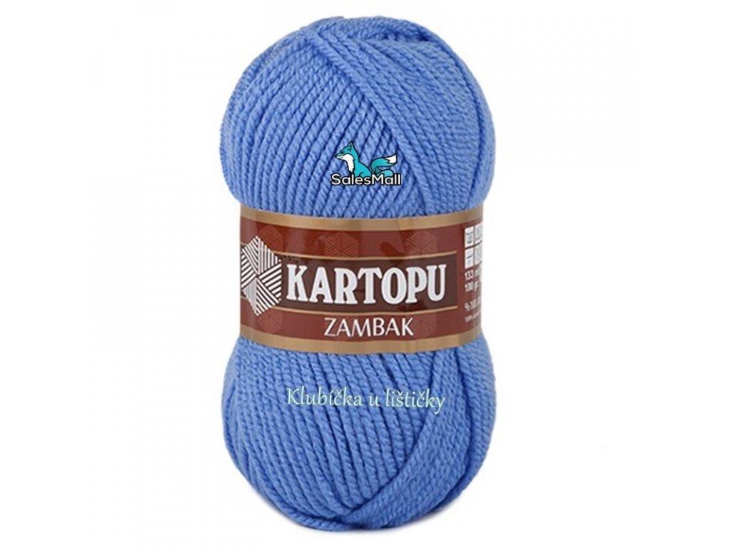 Příze Kartopu Zambak 535 - středně modrá