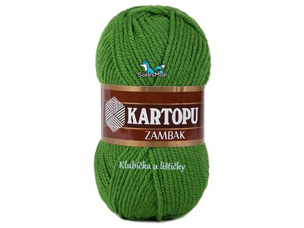 Příze Kartopu Zambak 392 - zelená
