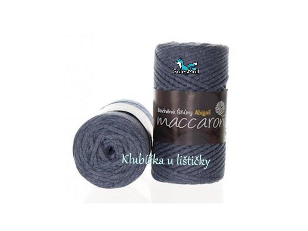 Bavlněné šňůry 3 mm - 38 modrá melange
