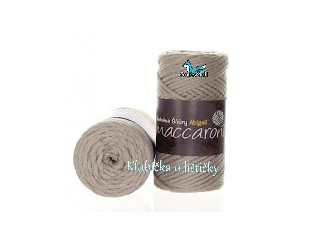 Bavlněné šňůry 3 mm - 35 krémově šedá
