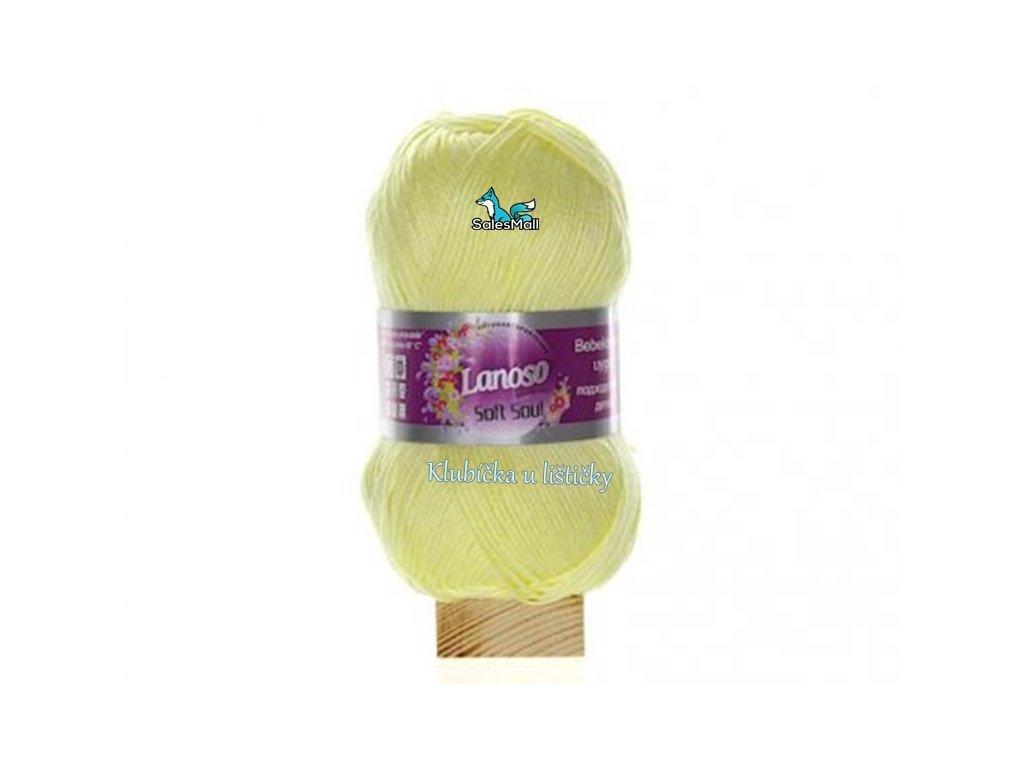 Lanoso Soft Soul 914- světle žlutá