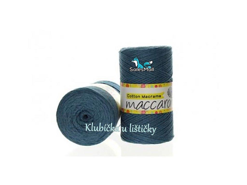 Cotton Macrame 39 - modro-zelená