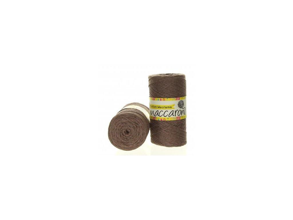 Cotton Macrame 35-303- hnědo-šedá