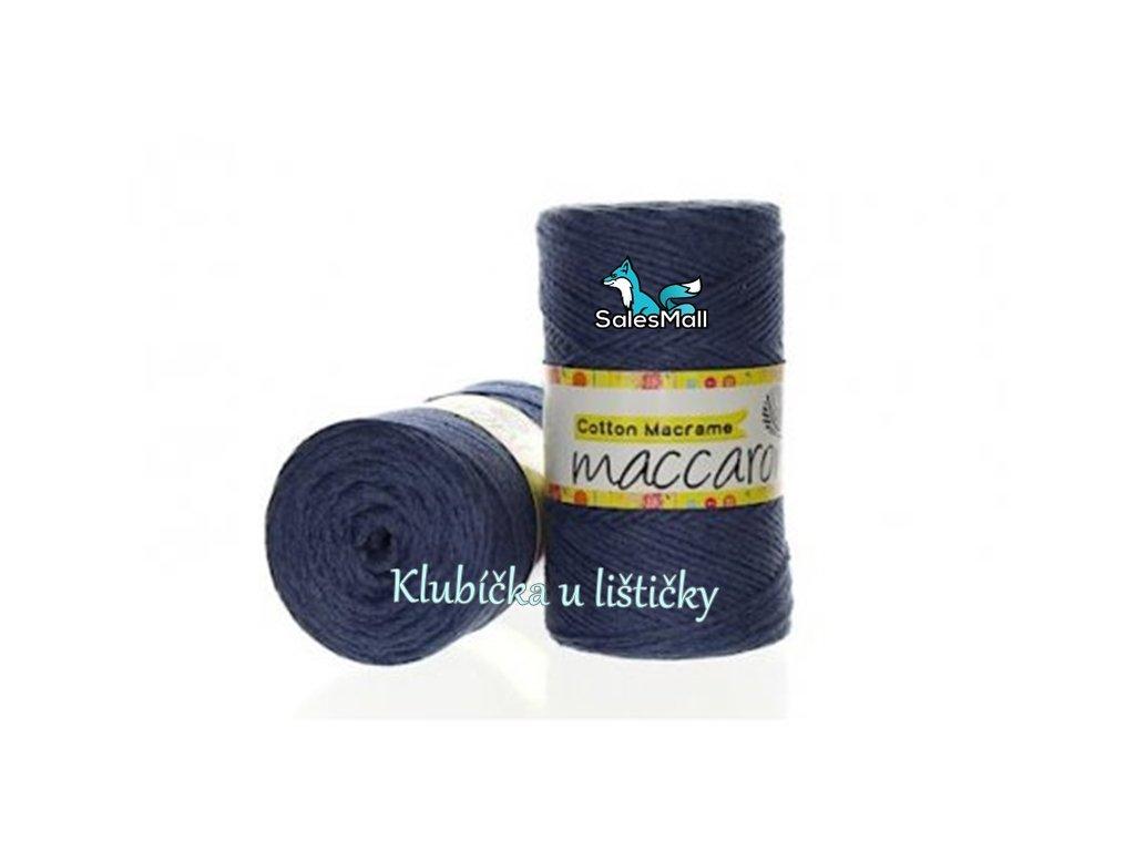 Cotton Macrame 34 - modro-šedá