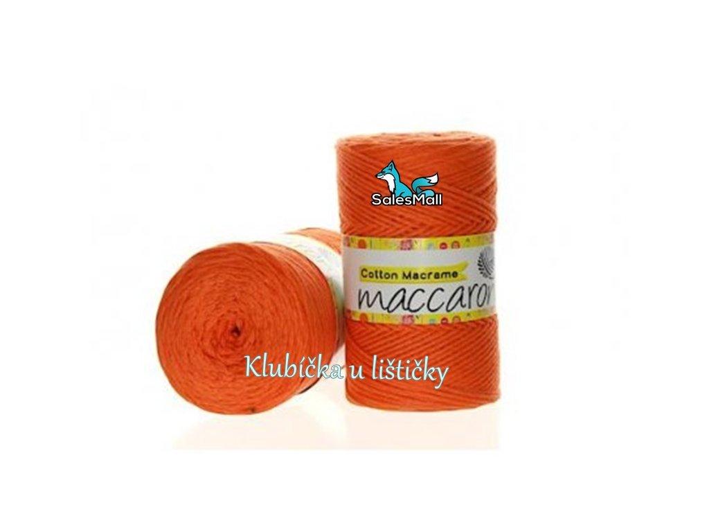 Cotton Macrame 18 - oranžová