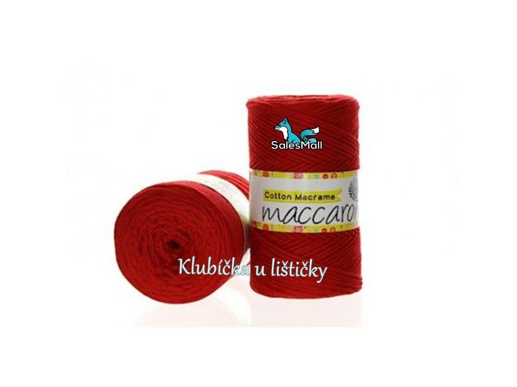 Cotton Macrame 16 - červená