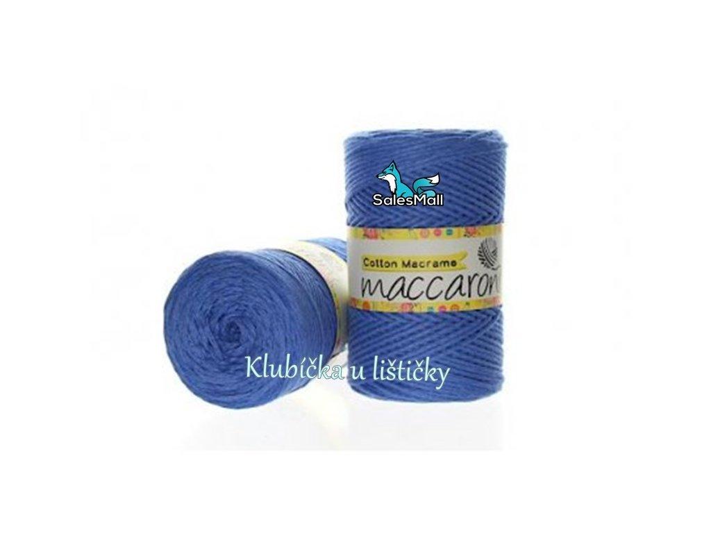 Cotton Macrame 12 - modrá