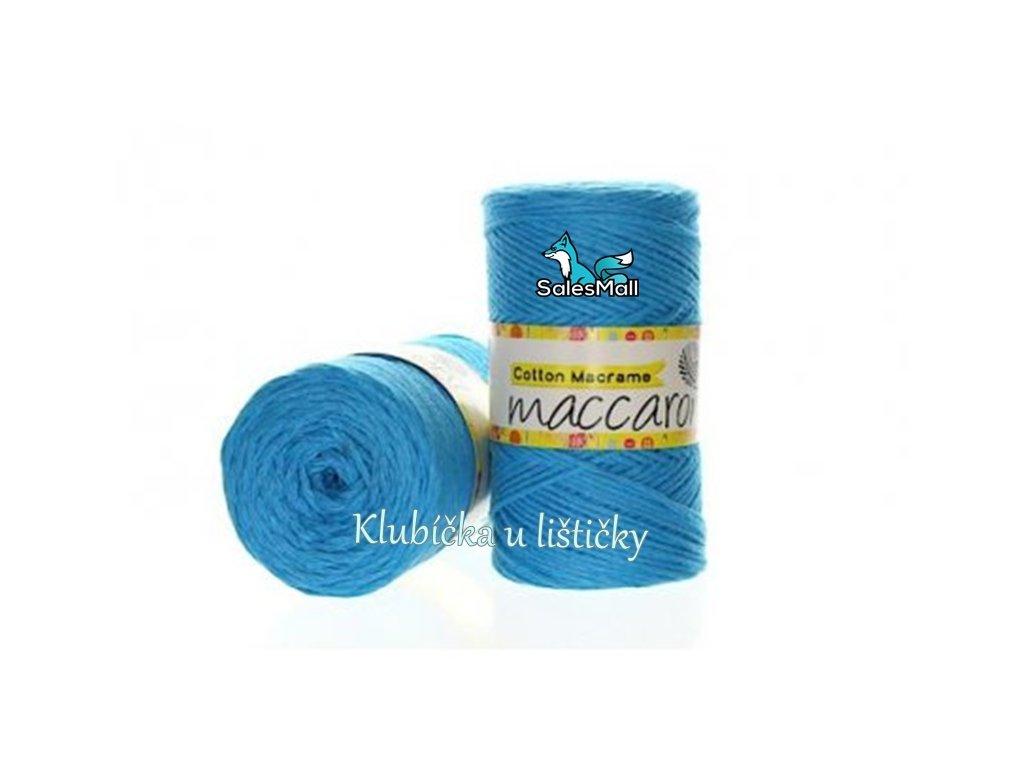 Cotton Macrame 11 - tyrkysová