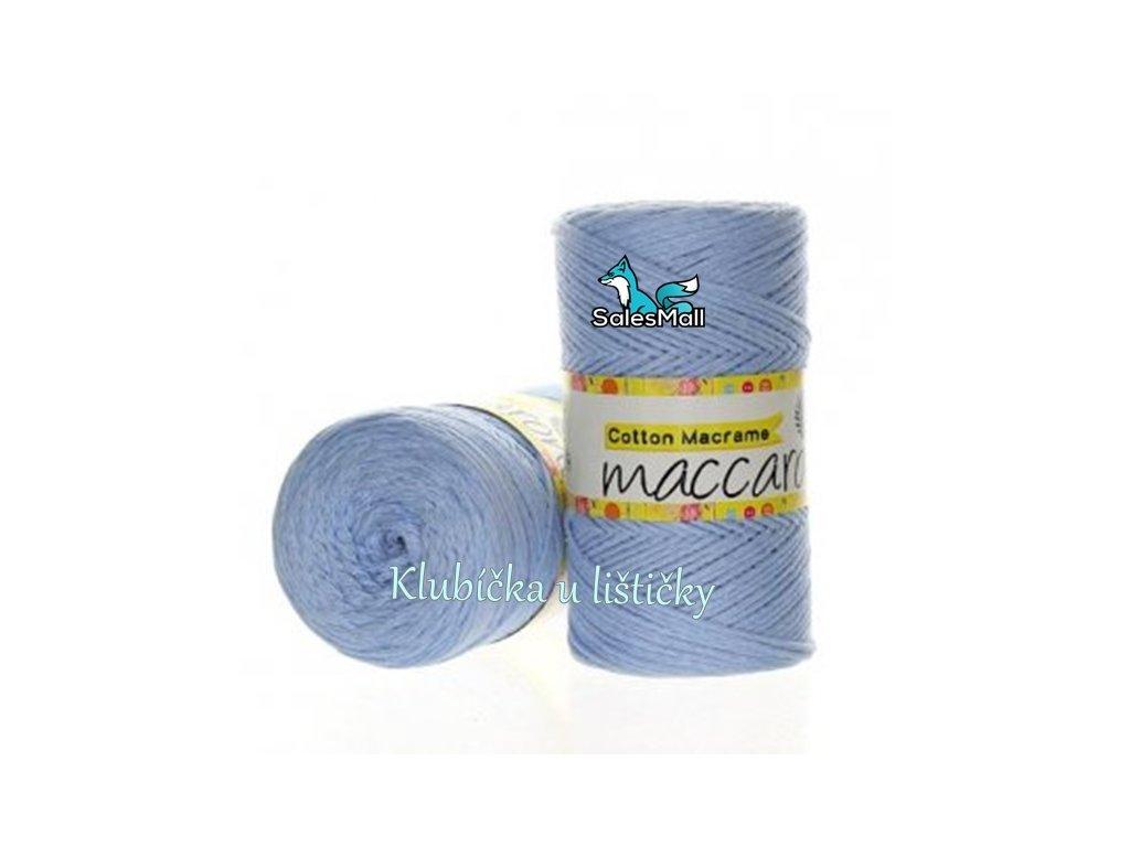 Cotton Macrame 10 - světle modrá