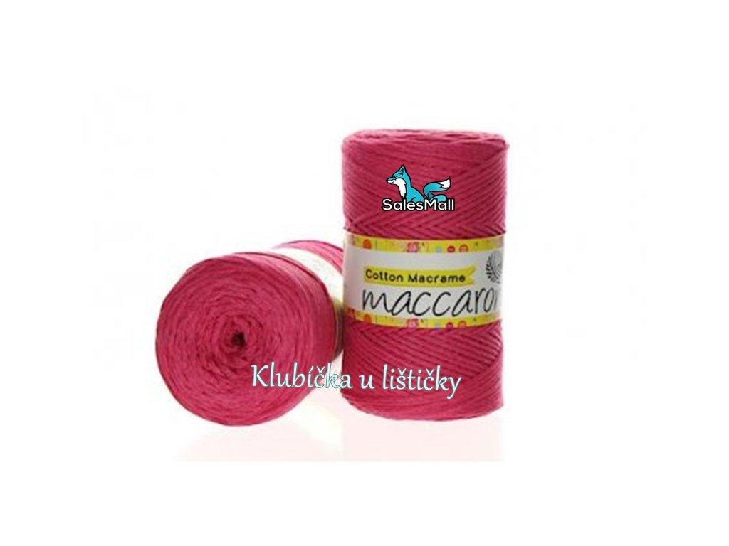 Cotton Macrame 06 - sytě růžová