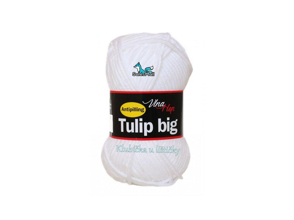 Vlna Hep příze Tulip Big 4002 - bílá