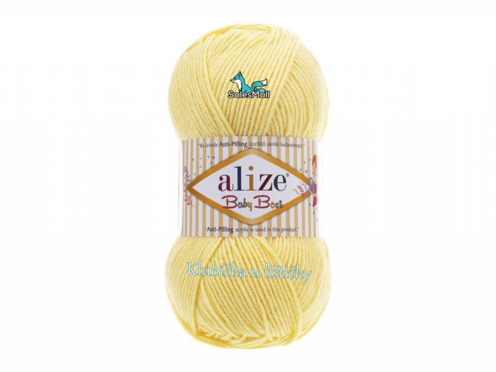 Alize Baby Best 250- světle žlutá
