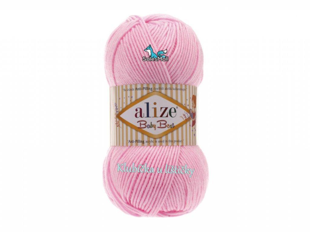 Alize Baby Best 191-  světle růžová