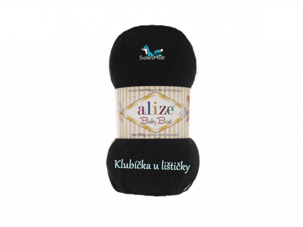 Alize Baby Best 60 - černá