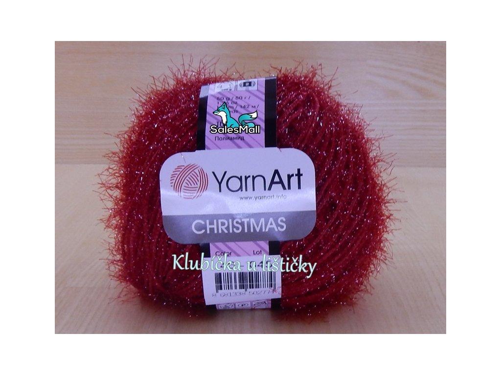 YarnArt Christmas 46 - červená tmavá