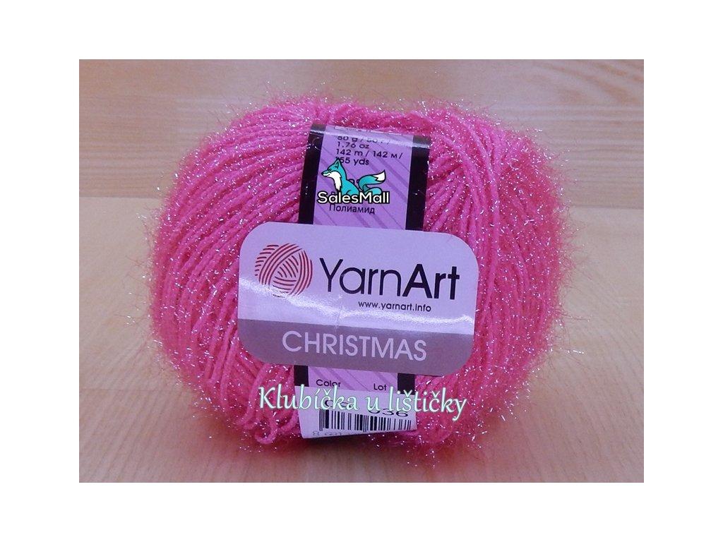 YarnArt Christmas 9 - zářivě růžová